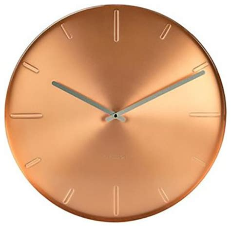 modern contemporary wall clocks karlsson belt wall clock copper modern wall clocks