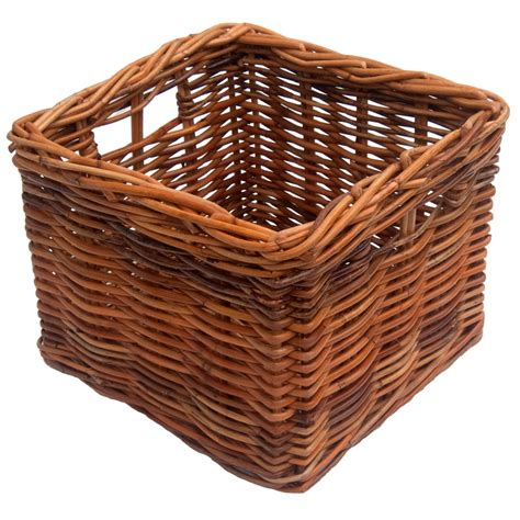 square wicker storage basket