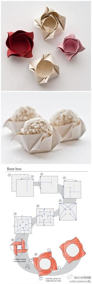 Origami Cupcake Box - how to fold boxes for cup cakes step by step diy