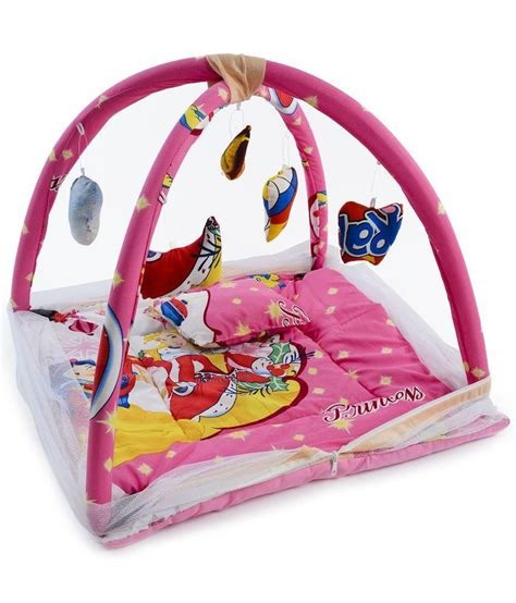 Baby Bed Sets In India Chhote Janab Pink Baby Bedding Set With Mosquito Net Buy