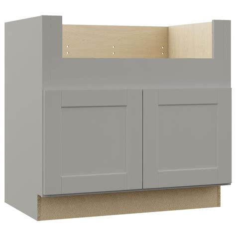Kitchen Cabinet Sink Base Hton Bay Shaker Assembled 36x34 5x24 In Farmhouse Apron Front Sink Base Kitchen Cabinet In