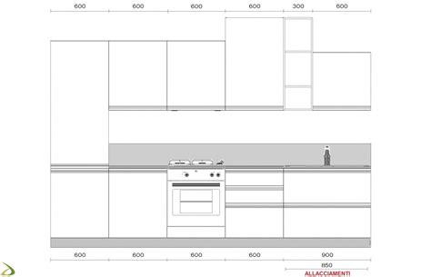 misure di una cucina cucina moderna componibile pisa arredo design