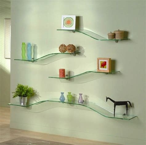 glass wall shelves decorative modern wall shelves recycled things