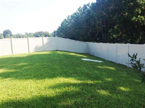 white backyard fence backyard fence inc gallery orlando fl