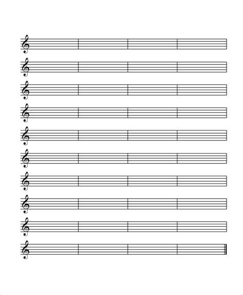 free printable staff paper music music music everyday