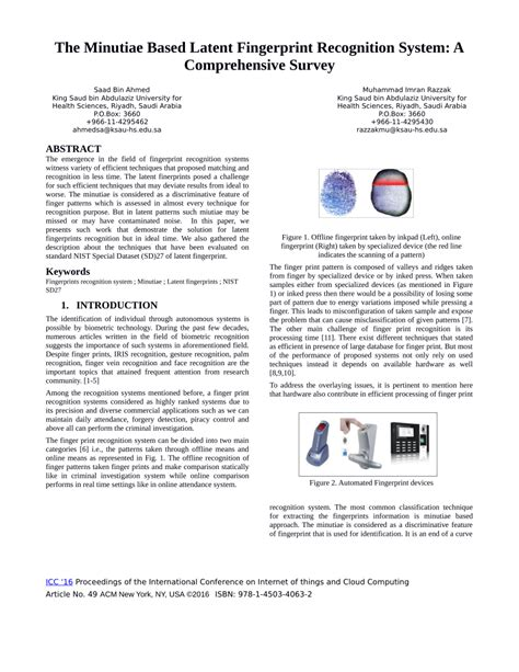 Fingerprint Research Papers by What Is Cloud Computing Pdf Research Paper The Minutiae Based Latent Fingerprint Recognition