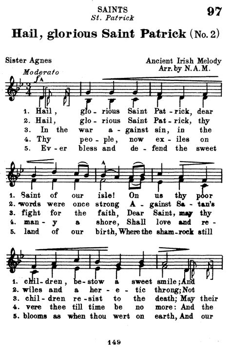 hail testo st gregory hymnal 1920