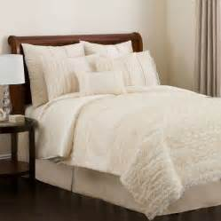 Ruffled Bedding Sets 4pc Stunning Sheer Ruffled Comforter Set Ebay