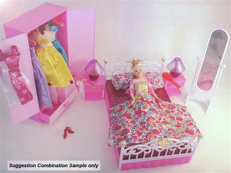 barbie doll bedroom set gloria barbie doll bedroom furniture playset fit all 11