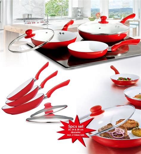 Diskon Dessini Ceramic Cookware 5pcs 25 5pcs ceramic coated pan set mydeal lk best deals in sri lanka