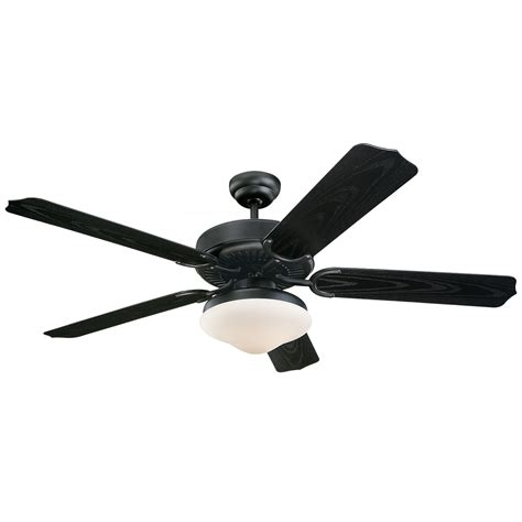 black outdoor ceiling fan monte carlo weatherford deluxe matte black 52 inch outdoor