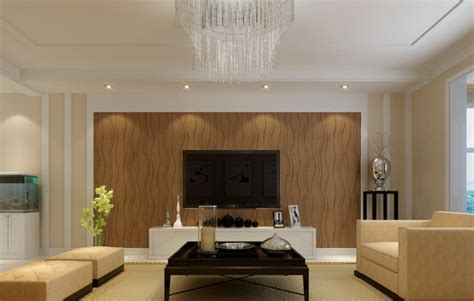 beautiful wooden wall panels   warm    living room