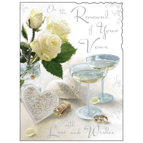 Congratulations Wedding Vow Renewal by Renewal Of Your Wedding Vows Card Karenza Paperie