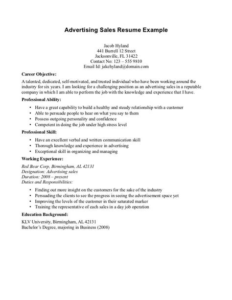 resume example resume objectives