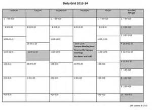 Schedule Grid Template by Best Photos Of Class Schedule Grid Template Blank School