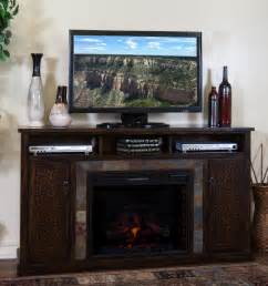 sd 3489dc 66r 66 quot santa fe rustic birch fireplace tv stand