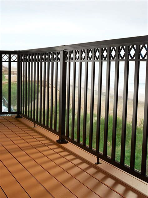 Aluminum Railing Systems Diy Aluminum Railing System Wide Pickets With Decorative