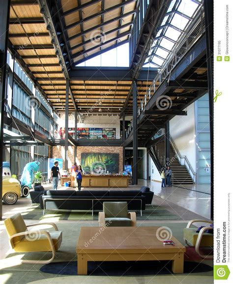 pixar studio interior loft lobby editorial image image