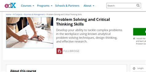 Fullbridge Online Course - Problem Solving and Critical