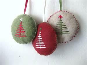 felt ornaments ornament set in felt handmade felt ornaments