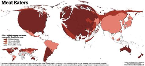 map us vegetarians eaters views of the world