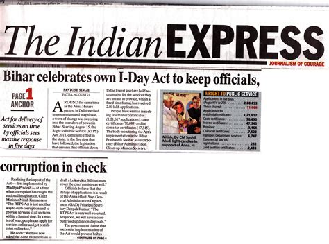 layout of indian express newspaper newspap