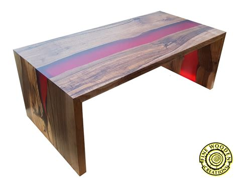 river coffee table quot waterfall quot river coffee table with bordo resin