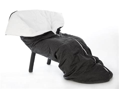 superette cocoon armchair is a sleeping bag cum recliner