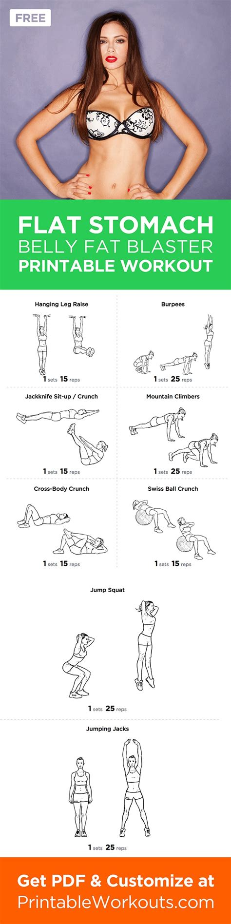 flat stomach inspiremyworkout a collection of