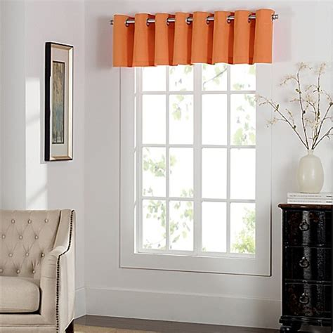 pumpkin colored curtains buy newport grommet window curtain valance in pumpkin from