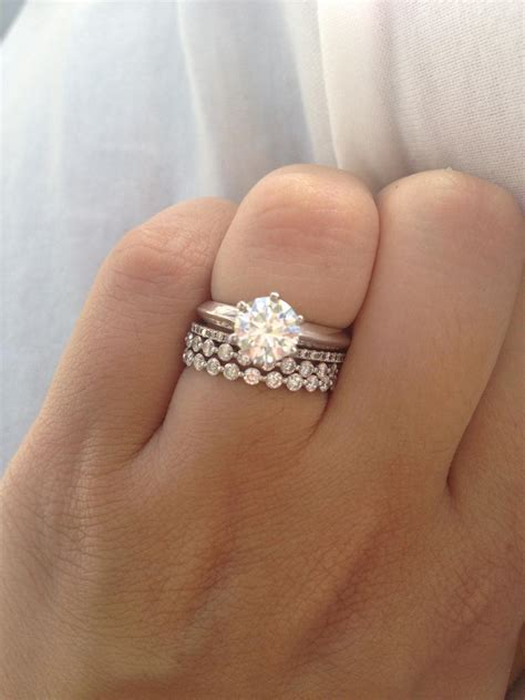 engagement ring on finger