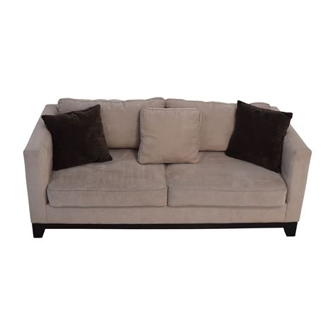 beige sofa with pillows 60 off bauhaus bauhaus beige microsuede couch with toss