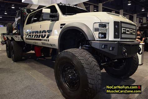 diesel brothers jk crew huge 6 door ford truck by dieselsellerz with buggy on top