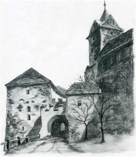 Castle Drawing castle drawings for inspiration and
