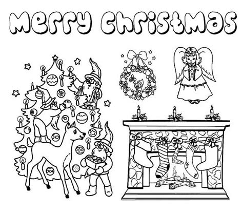 coloring pictures of christmas symbols complete christmas symbols for ornament on christmas