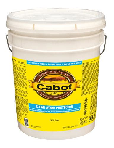 cabot clear wood protector  gal  menards