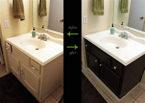 Bathroom Vanity Painting Before And After by Bathroom Vanity Before And After For The Home