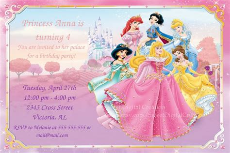 printable invitations disney princess unavailable listing on etsy