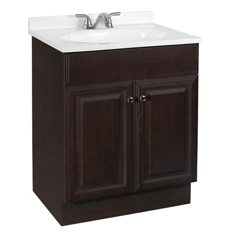 shop project source java integral single sink bathroom vanity  cultured marble top common