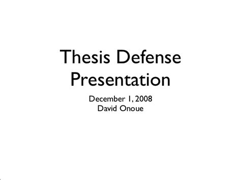 My Thesis Defense Presentation Thesis Presentation Ppt