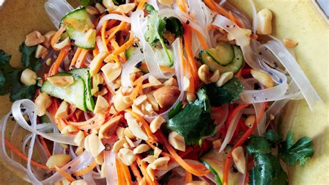 bean thread noodles with pickled vegetables recipe bon appetit