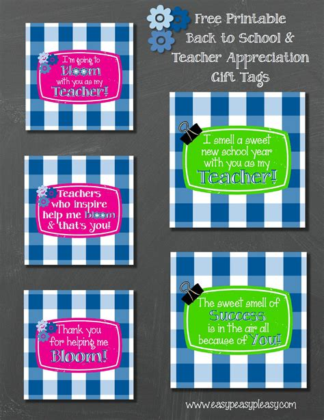 printable tags for teacher gifts free printable teacher gift tags and gift idea easy