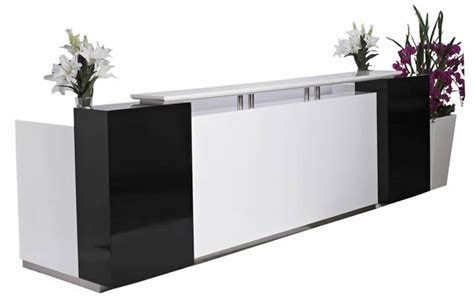 Gumtree Reception Desk Quality Reception Desks High Quality Reception Desk In High Gloss Orange And Black In Irlam