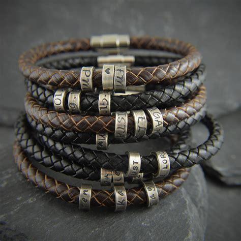 gift for men men personalized bracelet by