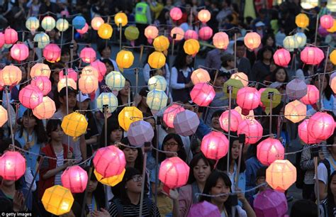 new year celebration in seoul south korea is lit up with sea of lanterns as seoul
