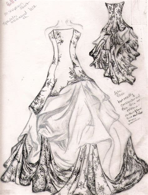 brautkleider zeichnen wedding dress sketch by familiarshadow on deviantart