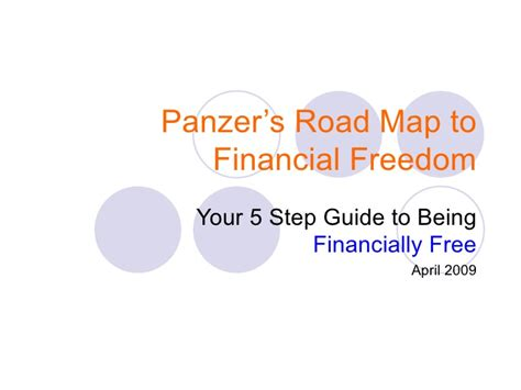 Map Your Financial Freedom panzers roadmap to financial freedom april 2009
