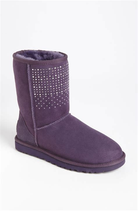 ugg boots ugg classic bling boot in purple purple velvet lyst