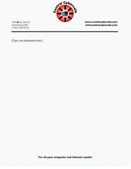 Business Letterhead Examples business letterhead examples