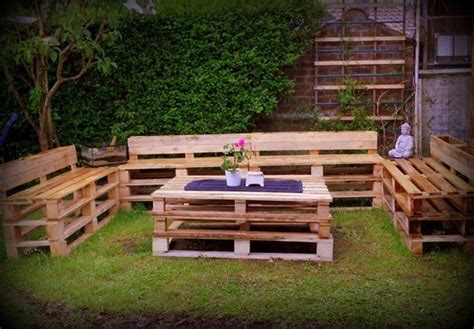pallet patio furniture ideas wooden pallet outdoor furniture ideas recycled things